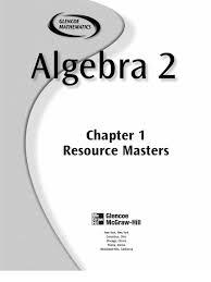 worksheet glencoe algebra 1 answers luizah mcgraw hill math worksheets 14647