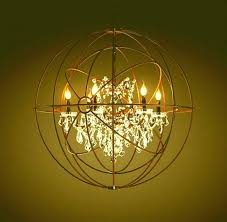 foucault orb chandelier chandeliers page candle