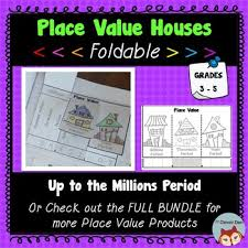 Foldable Houses Place Value Houses Foldable Interactive Notebook