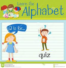 Flashcard Letter Q Is For Quiz Stock Illustration Illustration Of