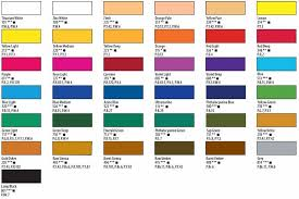 Art Spectrum Colour Chart Color Charts Pigment Information On Colors And Paints