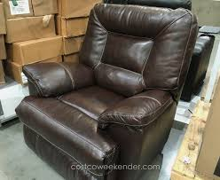 leather rocker recliner chair best of synergy ine leather recliner swivel glider for costco with
