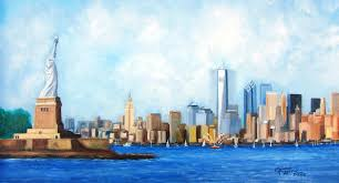 ny city painting new york city rebirth by leonardo ruggieri