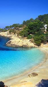 ibiza beach landscape android wallpaper