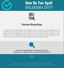Although english and italian have similar alphabets, the same characters do not always represent the same sound in both languages. Correct Spelling For Oklahoma City Infographic Spellchecker Net