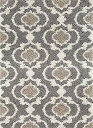 rug cozy moroccan trellis indoor round area rug 6 6 diameter gray cream