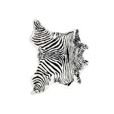 faux zebra black white 4 25 ft x 5 ft cowhide rug