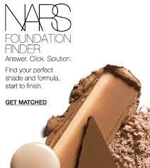 Foundation Color Match Chart Foundation Match Finder Nars Cosmetics