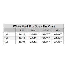 White Mark Size Chart Plus Size Fit Flare Dress Fuchsia White
