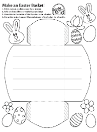 Make An Easter Basket Coloring Page Crayolacom
