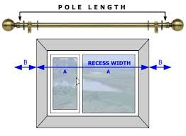 first mere the inside recess width of the window merement a