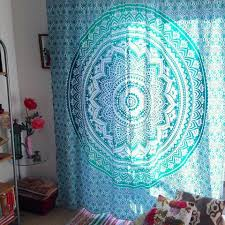 6 of 11 indian mandala tapestry wall hanging elephant blue bohemian bedspread dorm decor