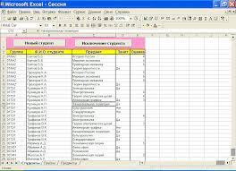 База данных Статистика экзаменационной сессии Курсовая работа  База данных quot Статистика экзаменационной сессии quot 2 6 Курсовая работа excel
