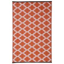 orange white trellis indoor outdoor reversible area rug and rugby stripe bedding
