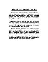 macbeth tragic hero a level english marked by teachers com page 1 zoom in