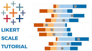 Semantic Differential Chart Excel Likert Scale Tableau Tutorial