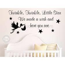 twinkle twinkle little star nursery wall sticker baby boy girl bedroom wall decor decal quote stork  on baby boy nursery wall art stickers with twinkle twinkle little star nursery wall sticker baby boy girl