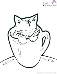 Cute Cat Coloring Pages Cute Cat Coloring Pages Cartoon Page Kitty