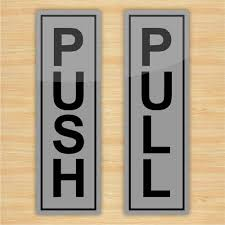 push pull signs for glass doors