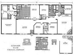 4 bedroom manufactured home inspirational double wide trailer floor plans new 22 unique 3 bedroom modular