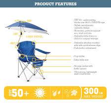 Amazon.com : Sport-Brella Umbrella Chair, Blue : Sun Shelters ...