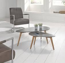 Table d'appoint moderne gris et blanc style scandinave