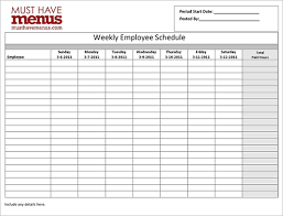 Sample Work Schedule For Employees Employee Work Schedule Under Fontanacountryinn Com