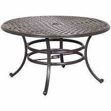 halston 53 round patio table ld7289a