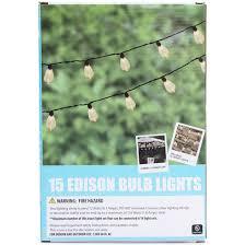 indoor outdoor edison bulb string
