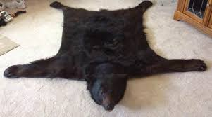 image of faux bearskin rug for living rooms