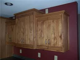 Rustic Hickory Wood With Medium Brown Stain Cabinets55