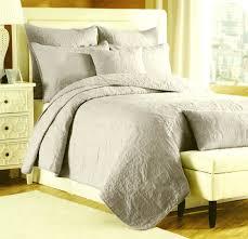 com nicole miller cotton serena king 3 piece quilt set bone ivory quilted bedding home kitchen