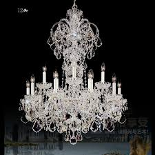 extra long large chandelier crystal chandelier res de cristal white candle holders lamp living room hotel
