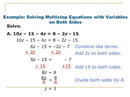 12 example solving multistep equations with variables on both sides