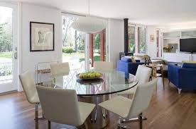 dining room cool open concept interior living room dining room and home office ideas modern