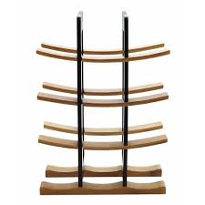bamboo wine rack. Plain Bamboo Anchor Hocking Bamboo Wine Rack With Espresso Accents Inside O