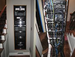 home theater of the month the old vic avsforum com the equipment rack pulls out making it easy to swap out gear the cabling is neatly dressed rather than a tangle of technospaghetti
