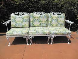 Woodard Wrought Iron Sofa in the Chantilly Rose Pattern
