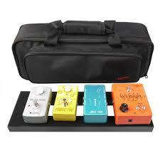 details about mini aluminum guitar effects pedal board diy setup kits soft pedalboard bag