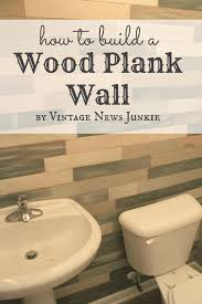Pallet Wall Bathroom How To Build A Wood Plank Wall