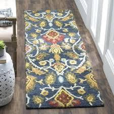 navy runner rug handmade blossom navy multicolored wool runner rug navy and white striped runner rug