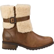ugg women s blayre ii leather winter boots in chestnut sk35vj