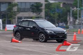 2018 subaru hatchback. contemporary hatchback the final handling course ups that experience by having the subaru xv do a  highspeed right hander on steel plate covered in oil on 2018 subaru hatchback
