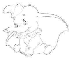 Coloring Pages Dumbo Elephant To Study Inde