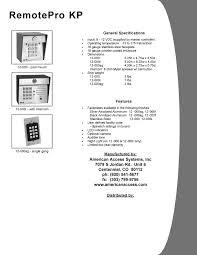 aas remotepro kp 12 000 keypad post mount aas remotepro kp wiegand output keypad brochure pdf