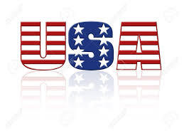 american flag word art usa word with superimposed american flag star and stripe pattern