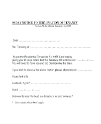 Sample Letter To Landlord To Terminate Lease Early Termination Of Tenancy Letter From Landlord Residential Lease
