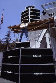 outdoor concert speakers. when klipsch got into concert speakers, they them in a big way! outdoor speakers k