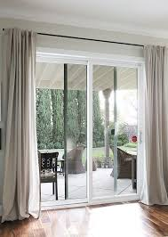 beautiful long curtains for sliding glass doors the ignite show intended curtain rod decorations 19