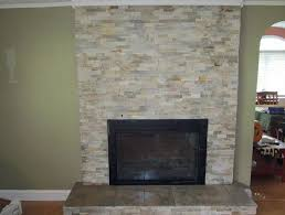 natural stone tile fireplace